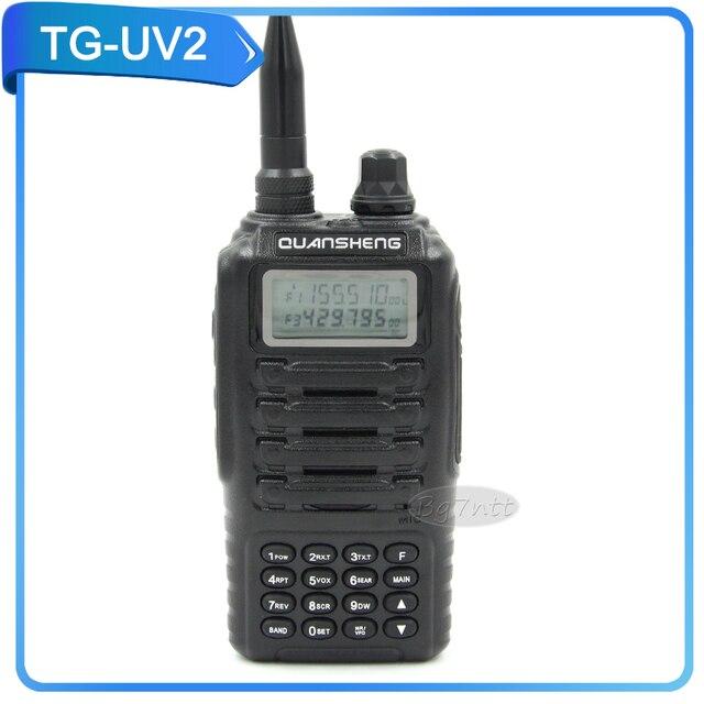 Walkie talkie QUANSHENG TG-UV2 двухстороннее радио 5 Вт UHF VHF 136-174/400-480 мГц ручной FM трансивер 200 каналов ветчина радио черный