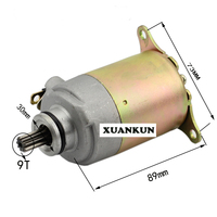 XUANKUN Scooter Motorcycle Motor Fuel Boat Electric Starting Motor GY6 125 Motor