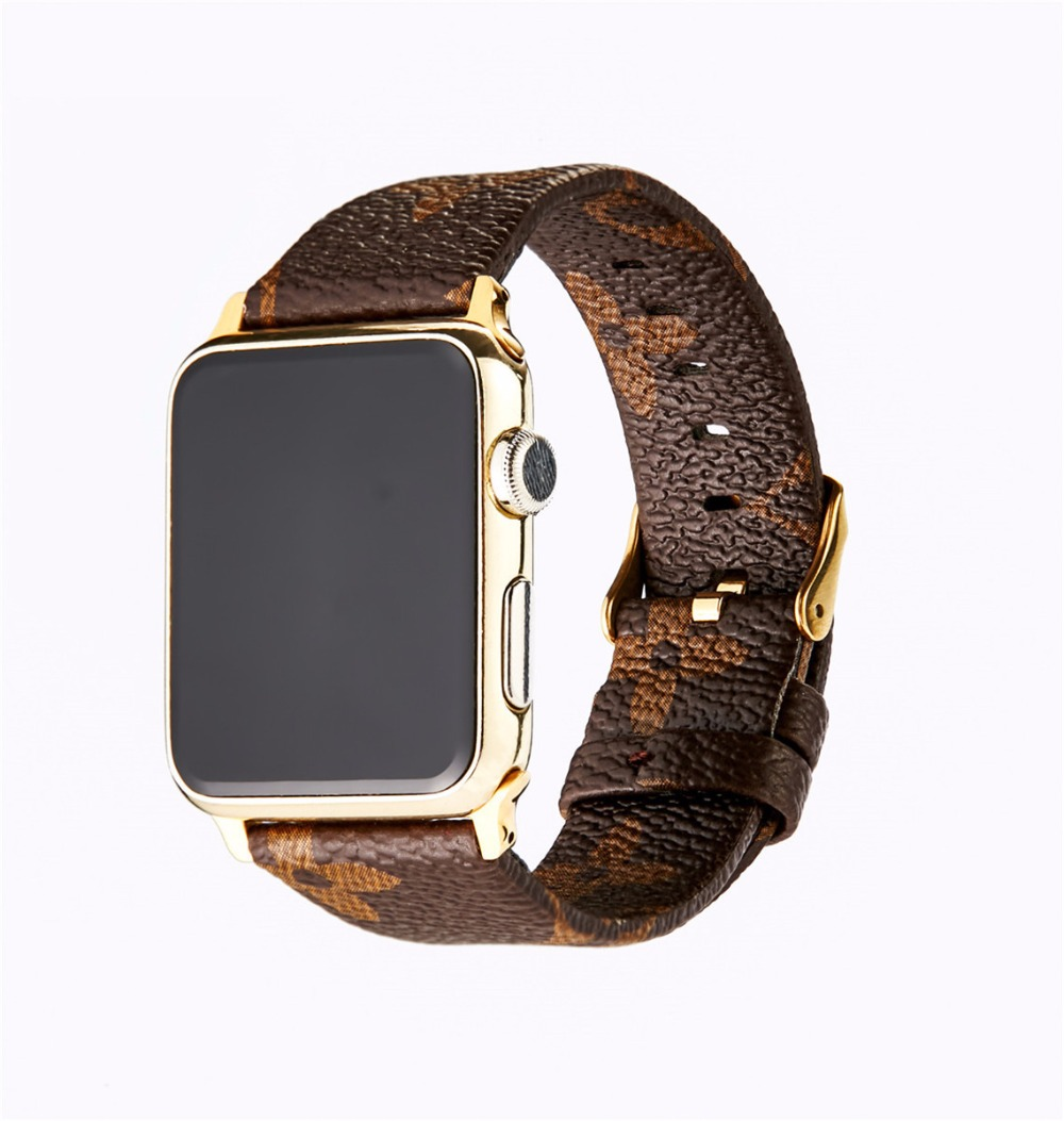 Good Leather Watchband for iWatch Apple Watch 38mm 42mm Series 1 2 3 Grid Pattern Replacement Band Steel Buckle Wrist Strap. ceramic watchband tool for 38mm 42mm iwatch apple watch series 1 2 replacement band steel butterfly buckle strap wrist bracelet