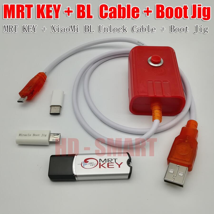 2018 Originale MRT dongle 2 MRT chiave 2 + xiaomi9008 BL cavo e Miracolo di Avvio Jig Per conto di riparazione Completamente attivare versione