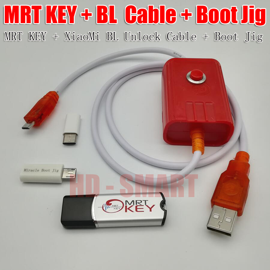 2020 Original MRT Dongle 2 MRT Key 2 + XiaoMi9008 BL  Cable + Miracle Boot Jig For Account  Repair Fully Activate Version