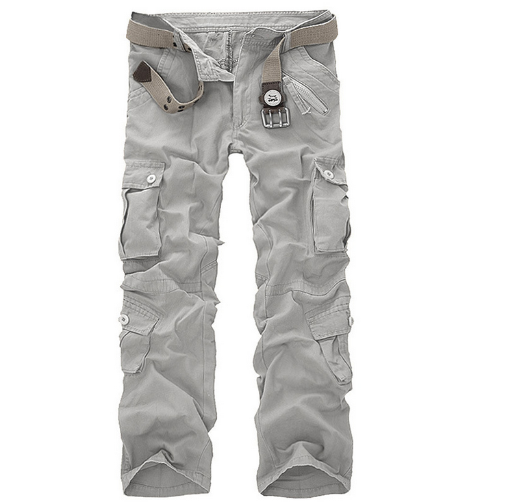 Men's Overalls Loose Camo Cargo Pants Baggy Outdoors Casual Cotton Men Multi Pockets Big Size Hot Summer Men's Casual Trousers moruancle men s baggy cargo jeans pants loose straight tactical denim trousers for big and tall size 29 46 side zipper pockets