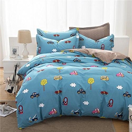 Fadfay 100 Cotton Car Bedding For Boys Duvet Cover Set Twin Full Queen Size Cartoon Boys Duvet Cover Kids Bedding Sets Queen