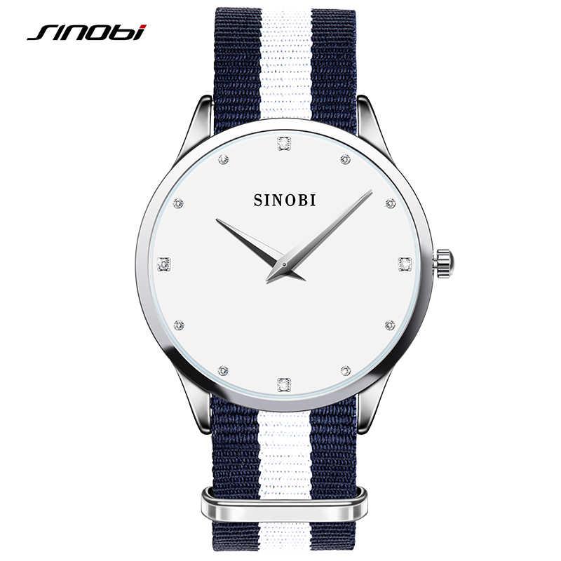 Топ часы SINOBI модные женские туфли наручные Часы для Элитный бренд нейлон  ремешок для часов женские 11905b598f3