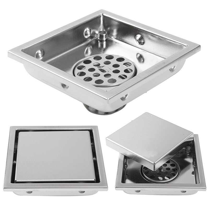 304 Stainless Steel Tile Invisible Grate Wetroom <font><b>Floor</b></font> Drain Bathroom Shower Drainer Square <font><b>Floor</b></font> Drain Bathroom Tools Mayitr