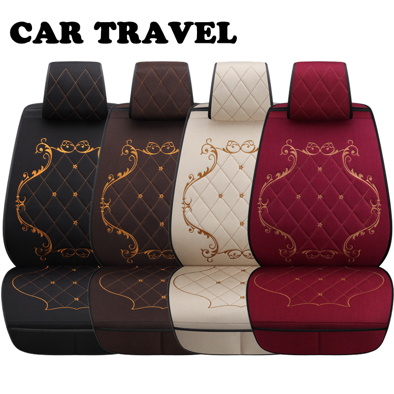 Flax car seat covers set for kia sportage rio sorento forte carnival auto accessories car seats protector цена 2017