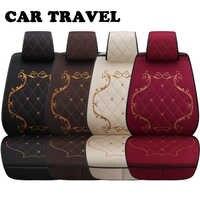 Flax car seat covers set for kia sportage rio sorento forte carnival auto accessories car seats protector