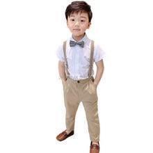 Школьная форма для мальчиков, детский ремень строгого стиля, рубашка+ штаны, комплект одежды, детское платье на свадьбу, день рождения костюм для выступлений для девочек