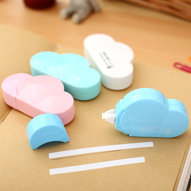 Cloud Shaped 5mmx5m Correct Belt Correction Tape Corretiva Papeleria Stationery Office School Modify Mistake White Sticky Tape