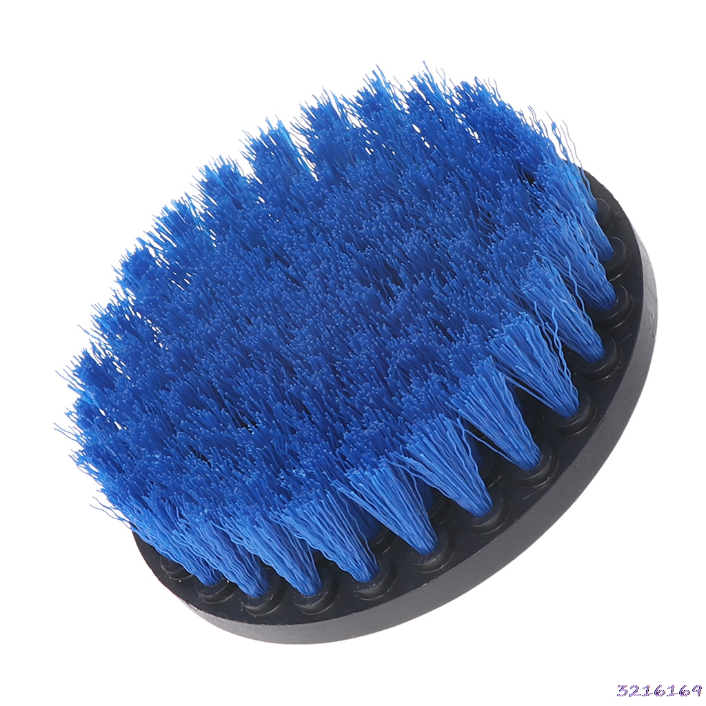 Blue color- 5 Drill Cleaning Brush Heavy Duty With Stiff Bristles For Carpet Car Mats New -38#