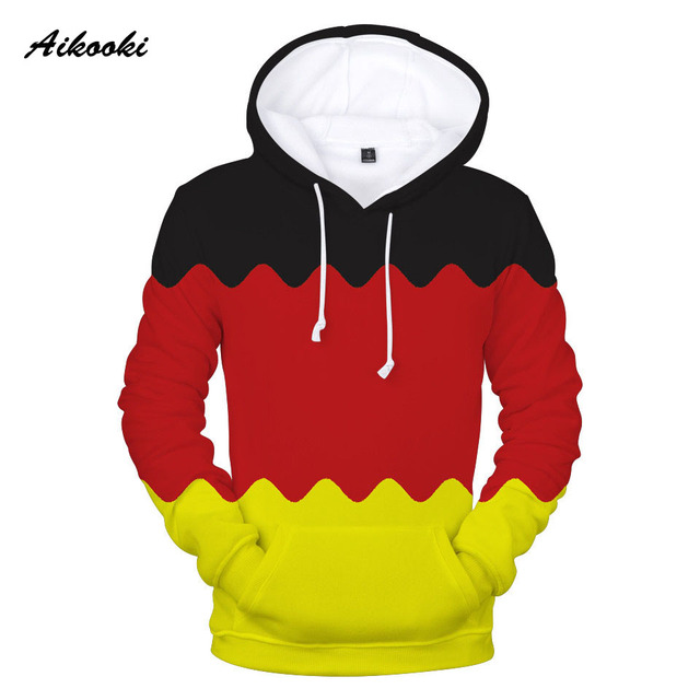 Aliexpress Com Buy Aikooki Germany Flag 3d Hoodies Sweatshirt Men