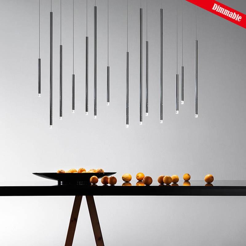 Pendant Light Thin D2.5cm Panting Thick Aluminium Lamp Cone Astigmatic COB LED Moden Simplicity Bar Dining Room Dimmable CUSTOM