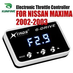 Elektroniczny regulator przepustnicy Racing akcelerator wspomagacz dla NISSAN MAXIMA 2002 2003 wszystkie silniki benzynowe Tuning Part w Elektronicznie sterowane przepustnice do samochodów od Samochody i motocykle na