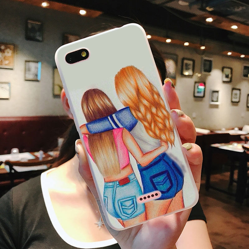 Silicone Case You are my best friends Printing for Xiaomi Mi 6 8 9 SE A1 5X A2 6X Mix 3 Play F1 Pro 8 Lite Cover in Fitted Cases from Cellphones Telecommunications