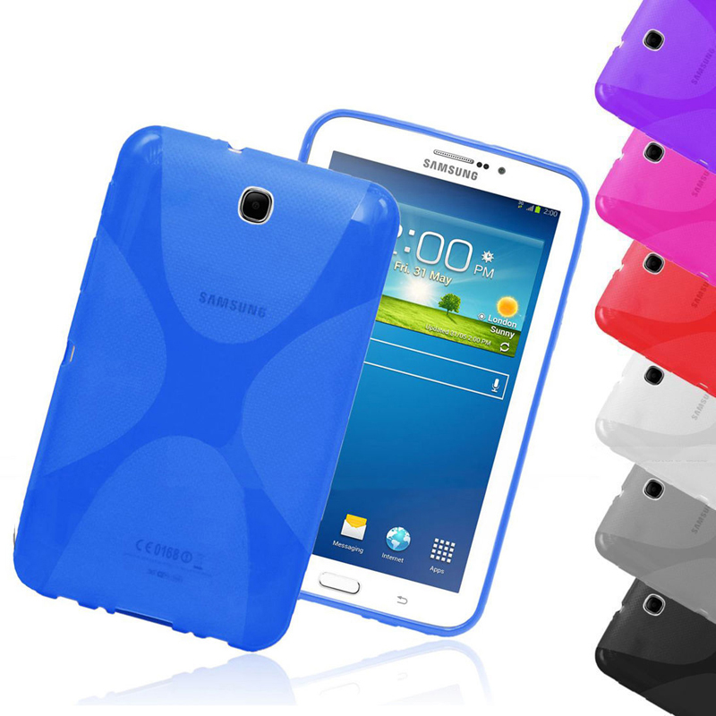 цена на Quality X Line Soft TPU Case Anti Skid Semi Clear Gel Silicone Cover For Samsung Galaxy Tab 3 7.0 P3200 P3210 T210 T211 Tab3 7