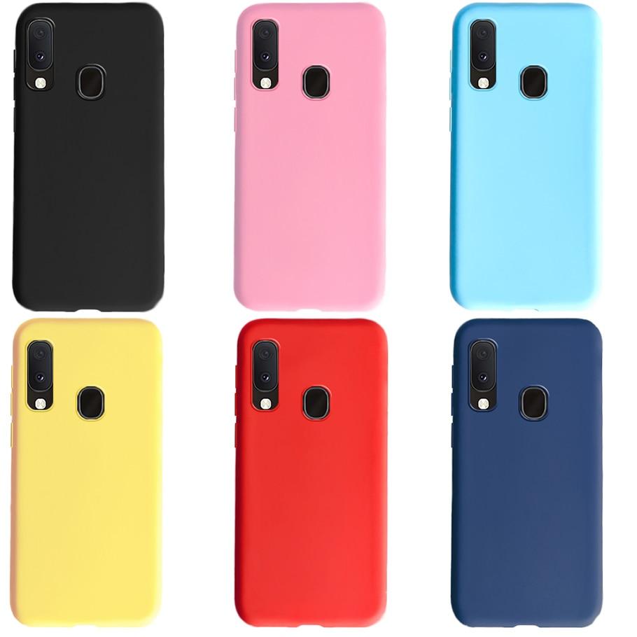 Candy Color Hülle für Samsung Galaxy A20e A20 und Bumper Coque Hülle für Samsung Galaxy A20e Soft Silicon Protection Phone Case