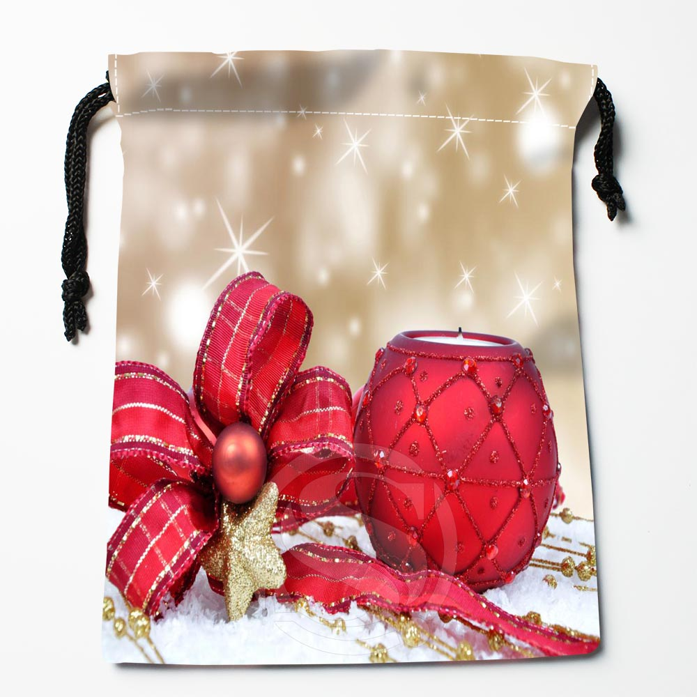 TF&56 New Christmas Gift #28 Custom Printed Receive Bag Bag Compression Type Drawstring Bags Size 18X22cm &812#56