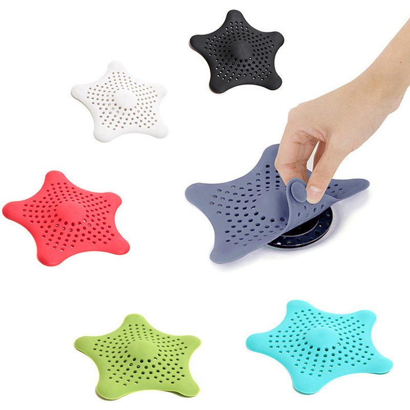 1Pc Star Sewer Outfall Strainer Bathroom Sink Filter Anti-blocking Floor Drain Hair Stopper & Catcher Kitchen Bathroom Accessory