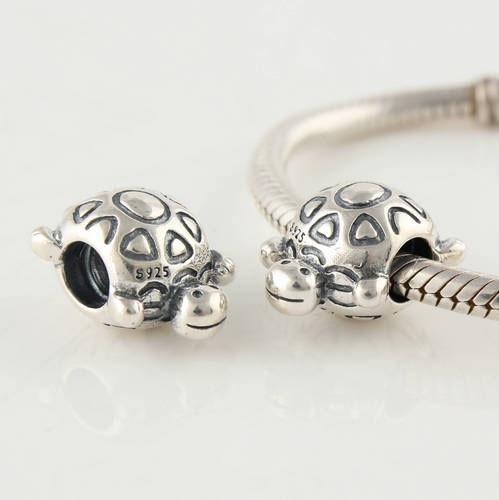 72cdbb1d1e76 ᗑTortuga encantadora 925 joyería de plata esterlina tornillo del ...