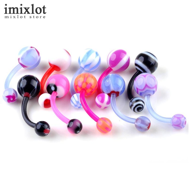 Plastic belly ring reviews online shopping plastic belly for Plastic cheek piercing jewelry