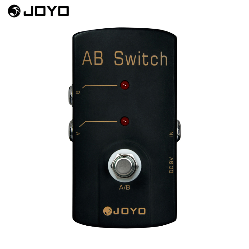 JOYO JF-30 AB Switch Electric Guitar Effect Pedal True Bypass for Guitar A/B Switch Guitar Accessories aroma adr 3 dumbler amp simulator guitar effect pedal mini single pedals with true bypass aluminium alloy guitar accessories