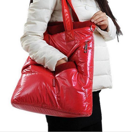 2016 Hot Venda Nova Mulheres Sacos de Inverno Espaço Móvel Saco Luva do Sexo Feminino Para Baixo Algodão-acolchoado Jaqueta de Ombro Bolsa de Cor frete Grátis