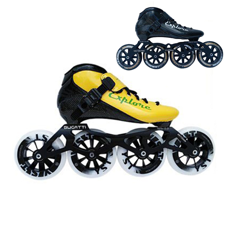 JEERKOOL Carbon Fiberglass Inline Speed Skates Kid Adult Beginner New hand Speeding Train Street Racing Shoes JP Korea for MPC 2