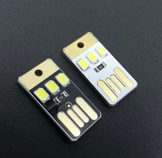 Integrated Circuits Electronic Components & Supplies Gentle 5pcs/lot Mobile Power Supply Usb Lamp Black Led Bulb Keychain Pocket Card Led Light At All Costs
