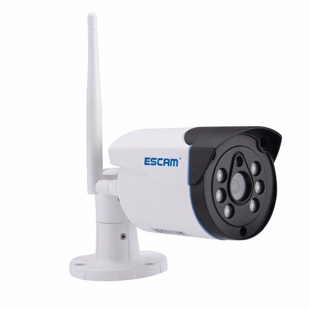 Escam WNK404 4CH WiFi IP Cameras Wifi NVR Kit HD 720P Infrared Outdoor Waterproof IP66 Day/Night Vision IR-Cut Security Camera