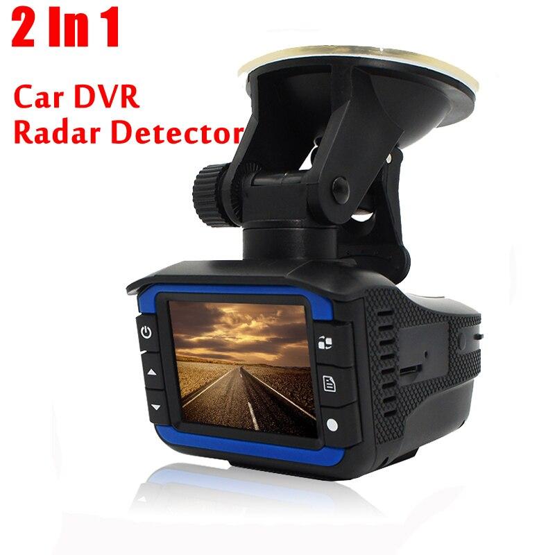 Excellent 2 en 1 Anti Laser voiture Radar détecteur g-sensor DVR caméra enregistreur 140 degrés lentille HD 720 P avec russe et anglais Versio