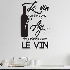 Image 1 - 성격 프랑스 와인 슬로건 레스토랑 주방 비닐 도포용 도구 스티커 주방 식당 자기 접착 벽화 cf14
