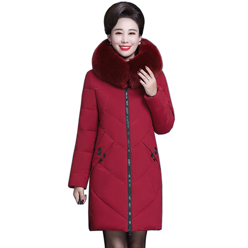 winter jacket women hooded collar thicken warm long jacket female plus size 4XL outerwear   parka   feminino warm womens Down jacket