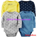 2016 New Carte Bodysuits For Baby Girls Long Sleeve Body Infant Bebe Boys Flowers Football  Spring Fall Winter Brand Clothing
