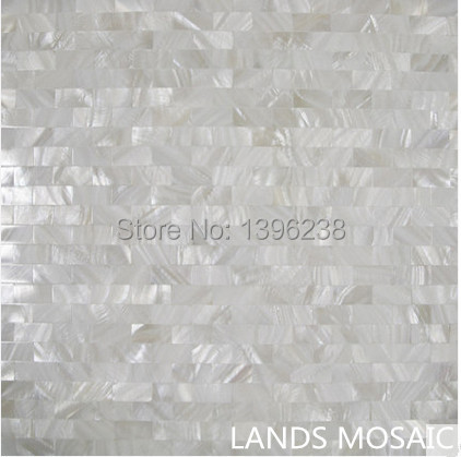 Seamless strip design Mother of Pearl White Shell Mosaic,Kitchen backsplash Shower home wall decor sticker,FREE shipping,LSBK09 free shipping wave pattern 100% natural penguin shell and chinese freshwater shell mother of pearl tile wall tile