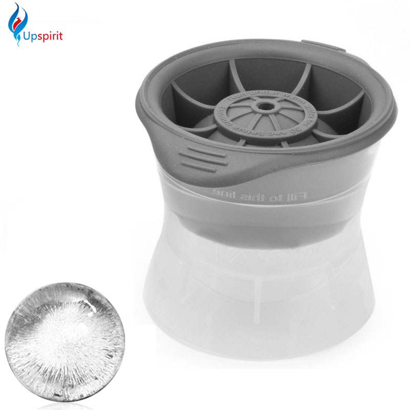 Upspirit 1PCS DIY Food Grade Silicone Ice Cube Mould Sphere Ice Molds Ice Ball Maker For Slow Melting Beverage Chillers For Bar