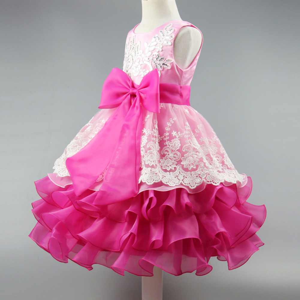 Buy Cheap 2-8 Years Elegant Girls Dress Sequin Formal Evening Gown Flower Wedding Princess Dress Girls Kids Clothing Tutu Party Dress