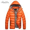 Мода Мужчины Куртка Ветрозащитный Твердые Зимняя Куртка Мужчины Повседневная Капюшоном Пиджаки Сгущает Теплое Пальто Марка Одежды 5 Цветов DCT-057