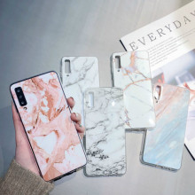 Marble Case on for Coque Samsung Galaxy A7 2018 Case Silicon Soft TPU Cover for Samsung A 7 2018 A750F A750 SM-A750F capa etui