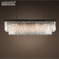 Modern Rectangle Chandelier Lights Crystal Hanging Lustre de cristal Lamp Dining room foyer Chandelier Lighting 100% Guarantee