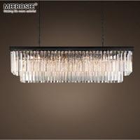 Modern Rectangle Chandelier Lights Crystal Hanging Lustre de cristal Lamp Dining room foyer Chandelier Lighting 100% Guarantee