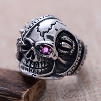 Silver jewelry wholesale silver jewelry retro skull ring xh053127w Pirates of the Caribbean