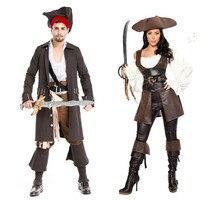 Nueva Lovers Poliéster Piratas del Caribe Traje Hombres y Mujeres de Halloween Masquerade Performance Cosplay Caliente H167810