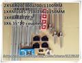 3* SBR20 Linear rail +12*SBR20UU +3* ballscrews RM1605 -L350/750/1150mm +3*BK12/BF12 Ball screw Support +3*coupling for CNC