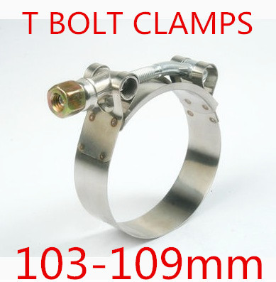 4pcs/lot 103-119mm T BOLT CLAMPS Turbo Pipe Hose Coupler Stainless Steel