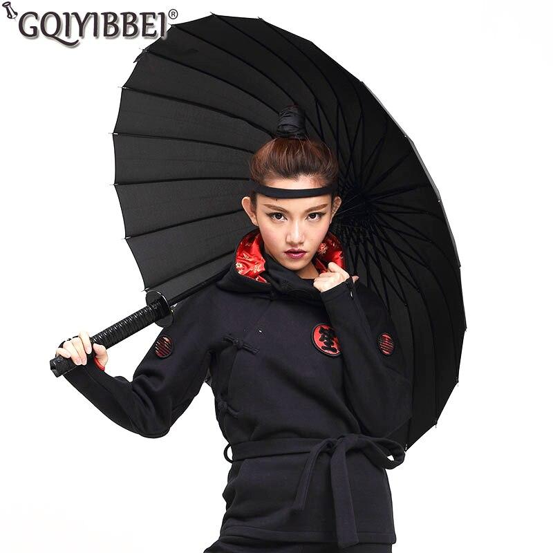 Gut Ausgebildete Kreative Lange Griff Samurai Schwert Regenschirm Japanischen Ninja-wie Große Winddicht Sonne Regen Gerade Regenschirm Auto Öffnen Für Mann Schrumpffrei