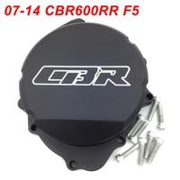 For 07 14 Honda CBR600RR CBR 600RR F5 Engine Stator Crank Case Cover Engine Guard Protection Side Shield Protector BLACK CHROME