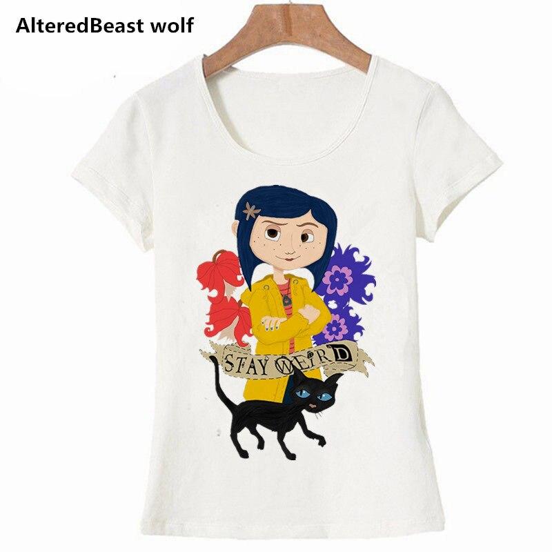 a72432d4a0 Hauts as Coraline shirts T shirt 2019 Décontracté D'été À Imprimé Femme  Vêtements Femmes Nouveau Harajuku T As Manches Courtes ...