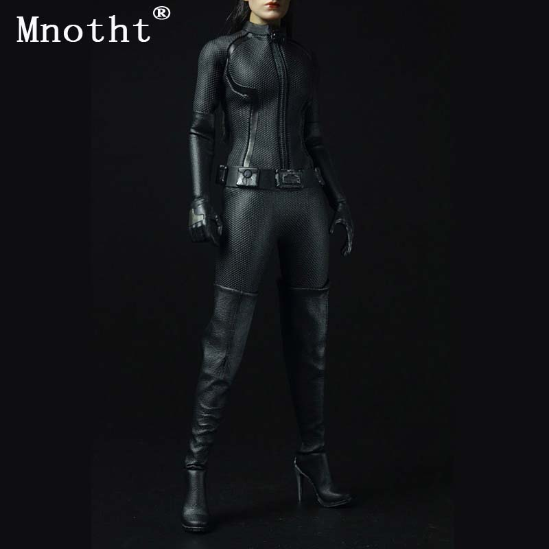Montht Sexygirl 1/6 Scale Cool Black Suit CATWOMAN Catherine Clothing Outfit Set Collectable 12 Female Action Figure Body Toys 1 6 women scale action figures silver imitation leather glittered female clothing suit body underwear shorts set fit 12 phicen
