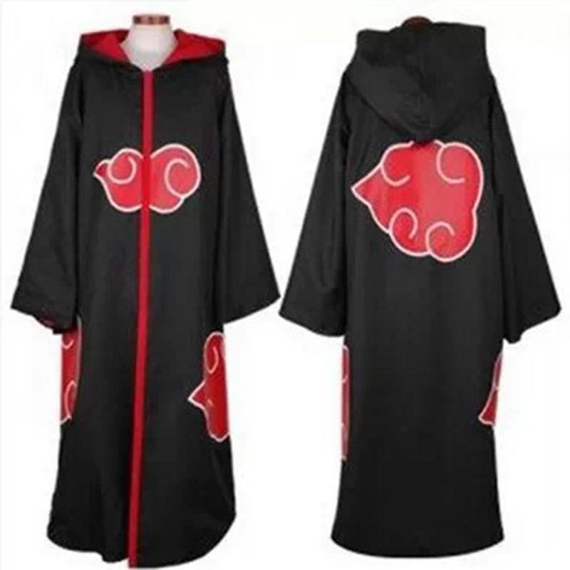 Anime Naruto Akatsuki Cosplay Costumes for Men Women Uniform Uchiha Itachi Cloak Cosplay Outfit