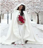Floor-Length-Women-White-Ivory-Faux-Fur-Coat-Bolero-Winter-Christmas-Bridal-Cape-Wedding-Cloaks-Shawl